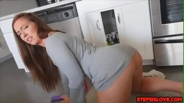 horny blonde busty babe masturbate with her fingers