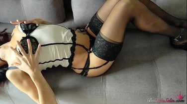 submissive babe gagged and tormented by master dom